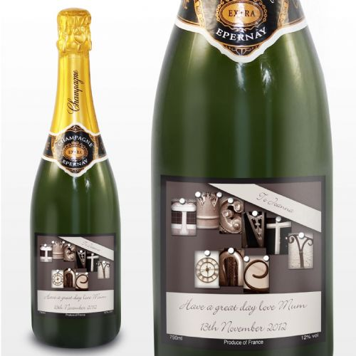 Personalised Affection Art Twenty One Champagne